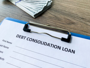 debt-consolidation-loan-document-with-graph-table